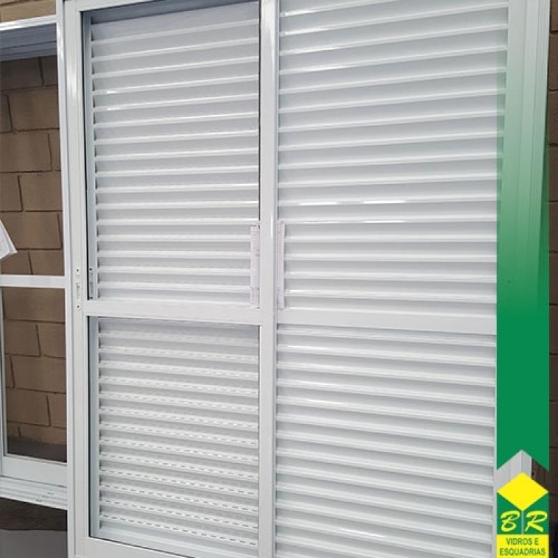 Encomenda de Esquadria de Alumínio Porta Balcão Jardim Nova Manchester - Esquadria de Alumínio Porta Pivotante