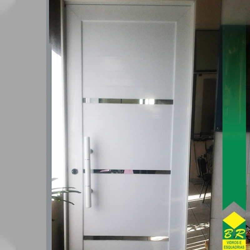 Encomenda de Esquadria de Alumínio Porta Pivotante Conchas - Esquadria de Alumínio Porta Pivotante