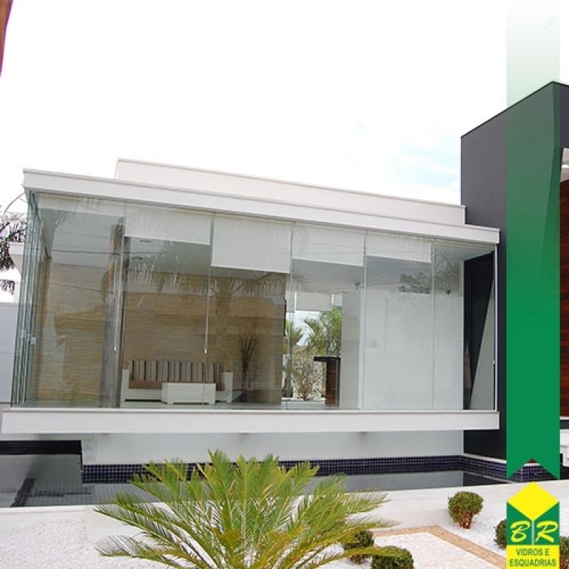 Instalação de Fachada de Casas Vila Élvio - Fachada Glazing