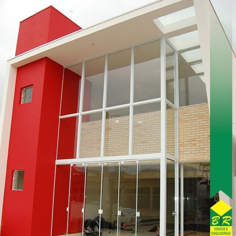 Instalação de Fachada Moderna Laranjal Paulista - Fachada Vidro