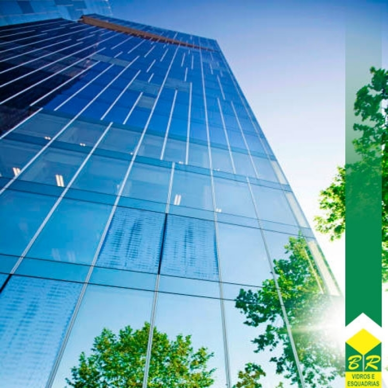 Instalação de Fachada Pele de Vidro Centro - Fachada Glazing