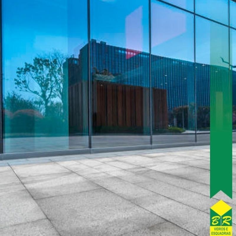Instalação de Fachada Vidro Espelhado Salto - Fachada Vidro
