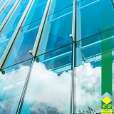 fachada de vidro laminado Jardim Santa Rosália