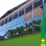 fachada vidro espelhado Vila Élvio
