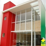 instalação de fachada moderna Conchas