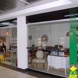venda de vidro temperado para divisória Centro