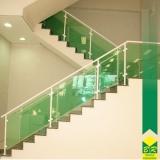 venda de vidro temperado para escada Cesário Lange