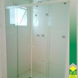 vidro temperado para box de banheiro valor Paranapanema