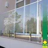 vidro temperado para corrimão Jardim Sandra