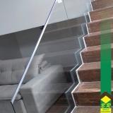 vidro temperado para escada valor Itaí
