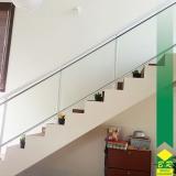 vidro temperado para escada Além Linha