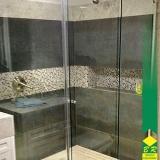 vidros temperados para box de banheiro Alumínio